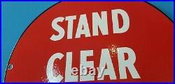 Vintage Esso Gasoline Porcelain Aviation Gas Service Station Airplane Fuel Sign