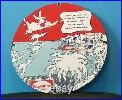 Vintage Esso Gasoline Porcelain Dr Seuss Service Station Pump Plate Sign