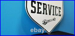 Vintage Ferrari Porcelain Gas Automobile Italian Service Station Dealership Sign