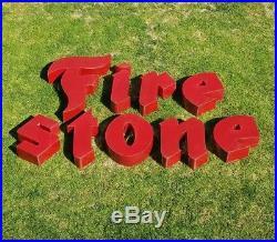 Vintage Firestone Red Porcelain Sign