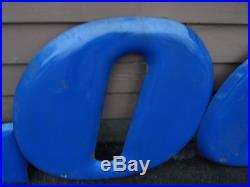 Vintage GOODYEAR Tires Letters & Winged Foot Porcelain Gas Station Sign