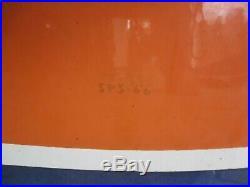 Vintage Gulf Dog Ear 6ft Porcelain Sign 1 Sided 1966 Sps 66