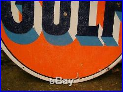 Vintage Gulf Gas sign double sided porcelain 42