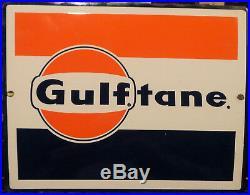 Vintage Gulf Gasoline Gas Pump Sign / Porcelain / Antique Gas / Oil Porcelain