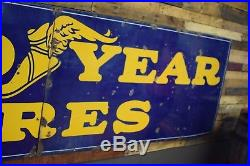 Vintage HUGE 14' Goodyear Porcelain Oil & Gas Station Sign 1930's RARE Will Ship