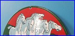 Vintage Johnson Seahorse Porcelain Outboard Motors Gasoline Motor Boats Sign