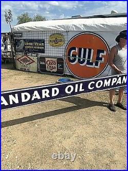 Vintage LG 10ft Rare Porcelain Standard Oil Company Gas Gasoline Sign