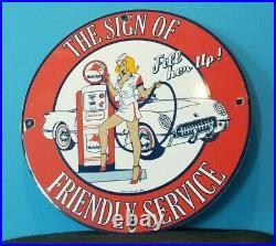 Vintage Mobil Gasoline Porcelain Gas Motor Oil Pegasus Friendly Chevrolet Sign