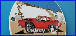 Vintage Mopar Porcelain Gas Dodge Plymouth Sales Service Road Runner Sign