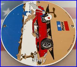 Vintage Mopar Porcelain Sign Service Station Gas Oil Dodge Plymouth Road Runner