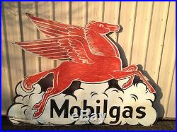 Vintage OLD Mobil gas Pegasus horse, see my other porcelain neon sign listings