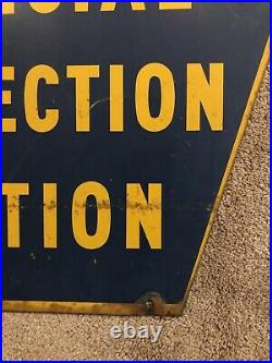 Vintage Official PA Inspection Station 2-Sided Retired Pennsylvania Sign