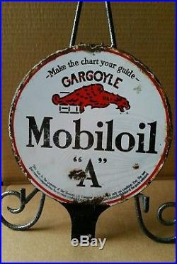 Vintage Old Mobiloil Gargoyle Porcelain Lubster Sign