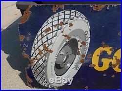 Vintage Original 6' PORCELAIN GOODYEAR TIRES RARE VERSION with GRAPHIC
