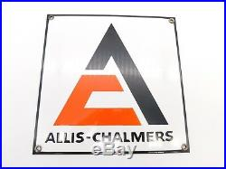 Vintage Original Allis Chalmers Porcelain Sign Farm Tractor