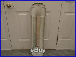 Vintage Original PRESTONE Anti-Freeze Gas Oil Porcelain Thermometer Sign Works