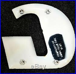 Vintage Original Porcelain Goodyear Sign 15in Letters 12ft Long. 1987 Stamped