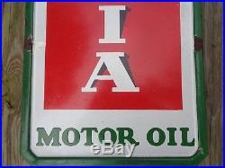 Vintage Original Porcelain Signs Vertical Sinclair Pennsylvania Motor Oil Sign