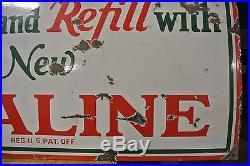 Vintage Original Sinclair Opaline Motor Oil Porcelain Sign No Reserve