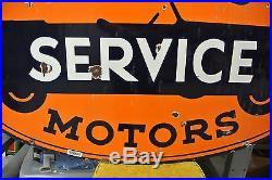 Vintage Original United Motors Service Porcelain Sign No Reserve