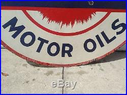 Vintage Pan Am Gasoline Motor Oils Porcelain 42 Sign