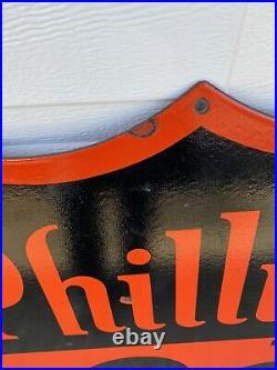 Vintage Phillips 66 Porcelain Sign. Near Mint. 30 Inches US SELLER