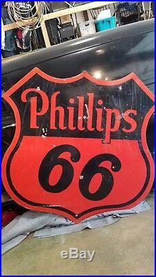 Vintage Phillips 66 porcelain sign 60 inch