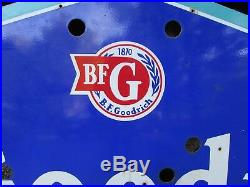 Vintage Porcelain BF Goodrich Sign Neon 8 Ft