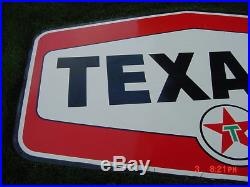 Vintage Porcelain Double Sided Texaco Sign Excellent Condition