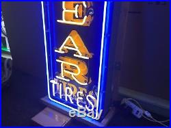 Vintage Porcelain Goodyear Sign 1960's Neon Advertising Tire Gas Oil Station