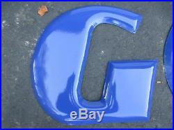 Vintage Porcelain Goodyear Sign with Letters & Winged Foot