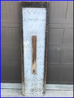 Vintage Porcelain POLARINE thermometer Sign Gas Oil ISO-VIS STANDARD MAKE OFFER