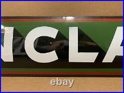 Vintage Porcelain Sinclair Sign Gasoline Motor Oil Pump Dino Gas Garage Wall