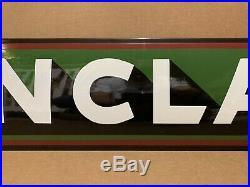 Vintage Porcelain Sinclair Sign Gasoline Motor Oil Pump Dino Gas Garage Wall Art