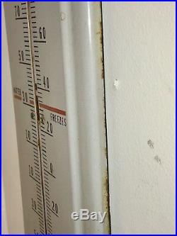 Vintage Preston Anti-Freeze Porcelain Thermometer