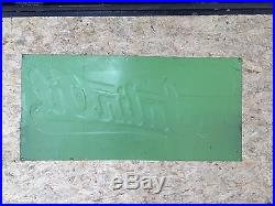 Vintage Satin Oil Tin Metal Sign Not Porcelain Gas Oil