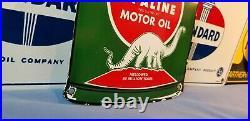 Vintage Sinclair Gasoline Porcelain Gas Oil Lube Service Station Pump Plate Sign