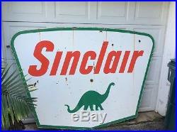 Vintage Sinclair Porcelain Sign Gas Oil Station Advertising Dino