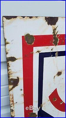 Vintage Skelly Double Sided Porcelain Gas Station Sign 5 Ft