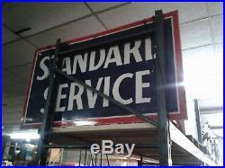 Vintage Standard Service Double Sided Porcelain Sign