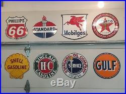 Vintage Style Porcelain Gasoline Pump Signs (Lot of 18)