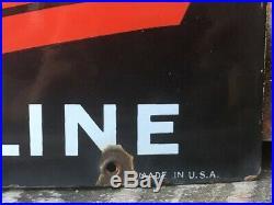 Vintage Texaco SkyChief Porcelain Sign Gas Station Oil Gasoline 12x18 Inch Old