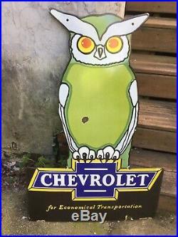 Vintage chevrolet porcelain sign