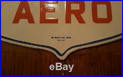 Vintage mobil mobiloil aero porcelain sign, gas, oil, pump plate, mobilgas
