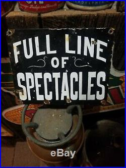 Vintage old porcelain drug store doctor antique sign general store gas oil RARE