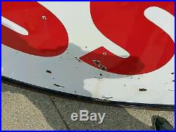 Vintage porcelain Esso sign not texaco gulf shell ect