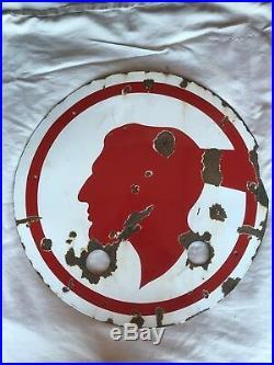 Vintage porcelain PONTIAC NEON gas oil auto sign