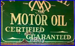 Vintage porcelain Quaker State sign