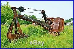 Vtg Bay City Crane Steam Shovel Tractor Michigan Porcelain Road Sign Gas Oil 38