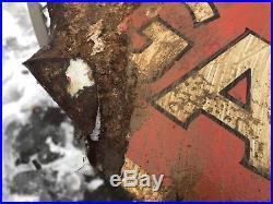 Vtg Rare 1930s Sohio Gasoline Ethyl DSP Porcelain Sign Standard Oil Ohio Patina
